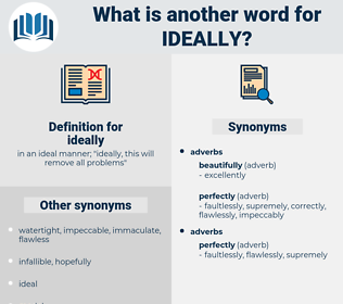 ideally, synonym ideally, another word for ideally, words like ideally, thesaurus ideally