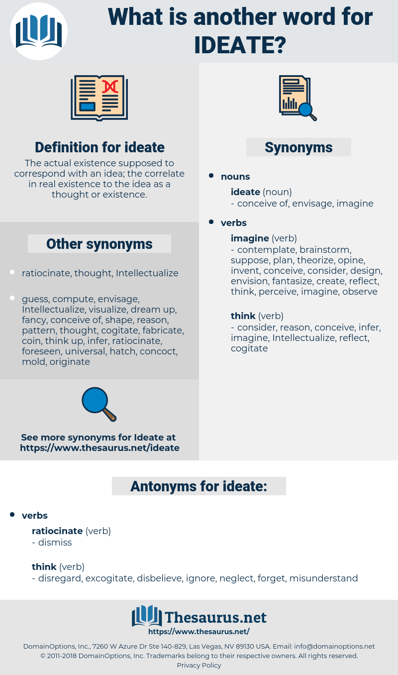 ideate, synonym ideate, another word for ideate, words like ideate, thesaurus ideate