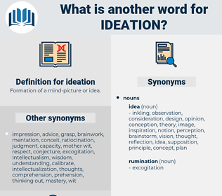 ideation, synonym ideation, another word for ideation, words like ideation, thesaurus ideation