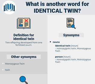 identical twin, synonym identical twin, another word for identical twin, words like identical twin, thesaurus identical twin