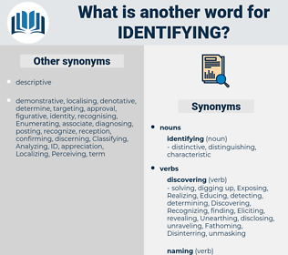 identifying, synonym identifying, another word for identifying, words like identifying, thesaurus identifying