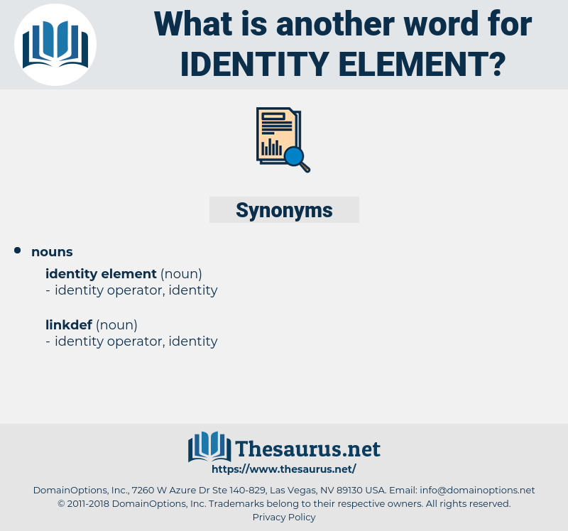 identity element, synonym identity element, another word for identity element, words like identity element, thesaurus identity element