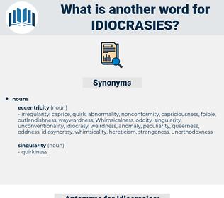 Idiocrasies, synonym Idiocrasies, another word for Idiocrasies, words like Idiocrasies, thesaurus Idiocrasies