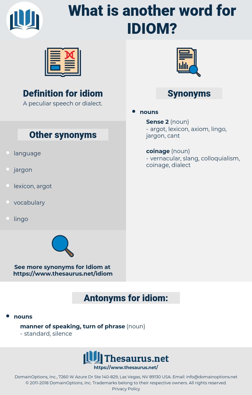 idiom, synonym idiom, another word for idiom, words like idiom, thesaurus idiom