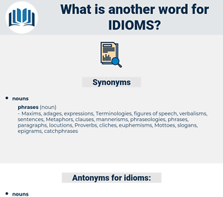 idioms, synonym idioms, another word for idioms, words like idioms, thesaurus idioms