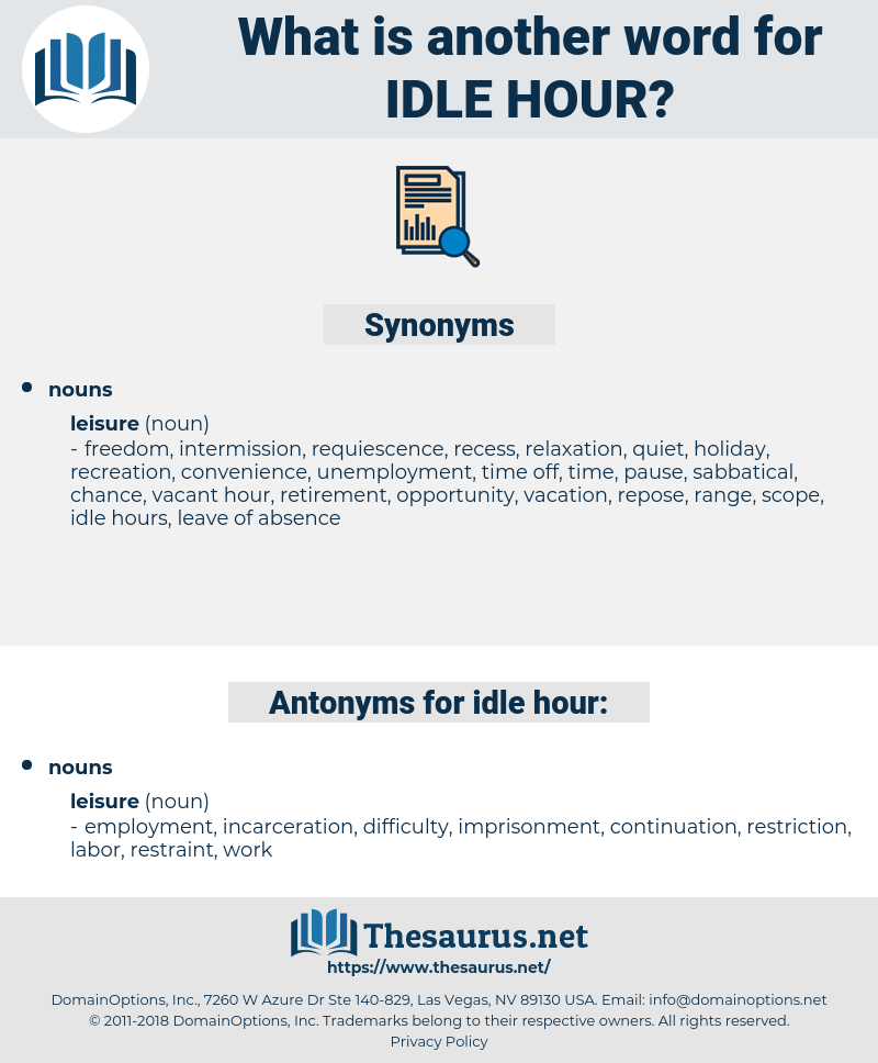 idle hour, synonym idle hour, another word for idle hour, words like idle hour, thesaurus idle hour