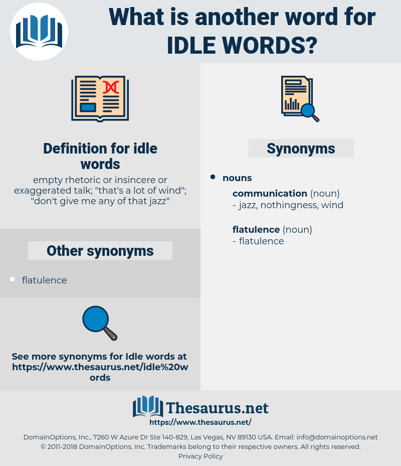 idle words, synonym idle words, another word for idle words, words like idle words, thesaurus idle words