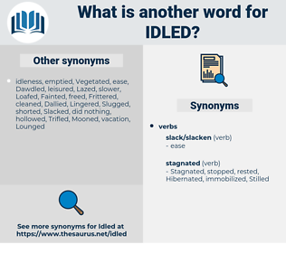 Idled, synonym Idled, another word for Idled, words like Idled, thesaurus Idled