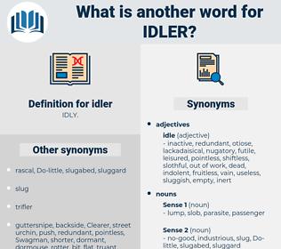 idler, synonym idler, another word for idler, words like idler, thesaurus idler