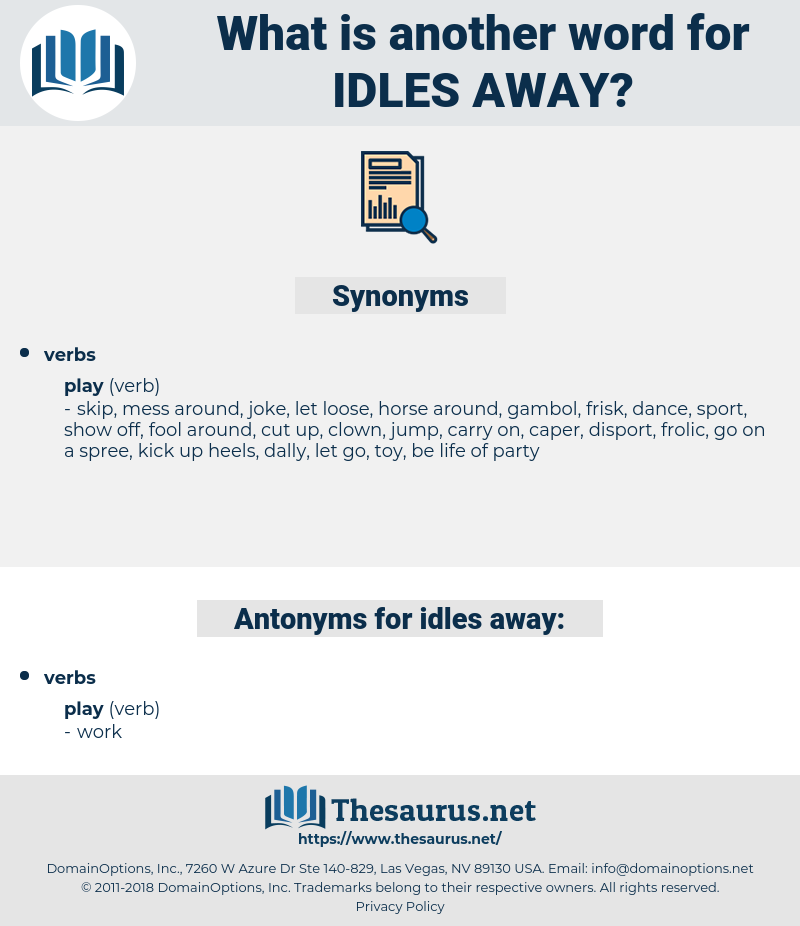 idles away, synonym idles away, another word for idles away, words like idles away, thesaurus idles away