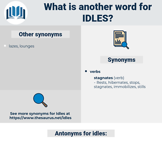 idles, synonym idles, another word for idles, words like idles, thesaurus idles