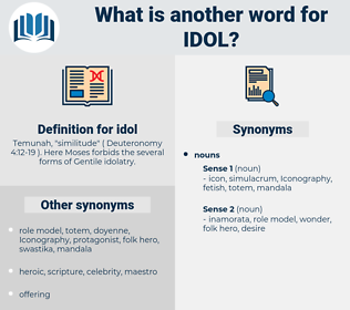 idol, synonym idol, another word for idol, words like idol, thesaurus idol