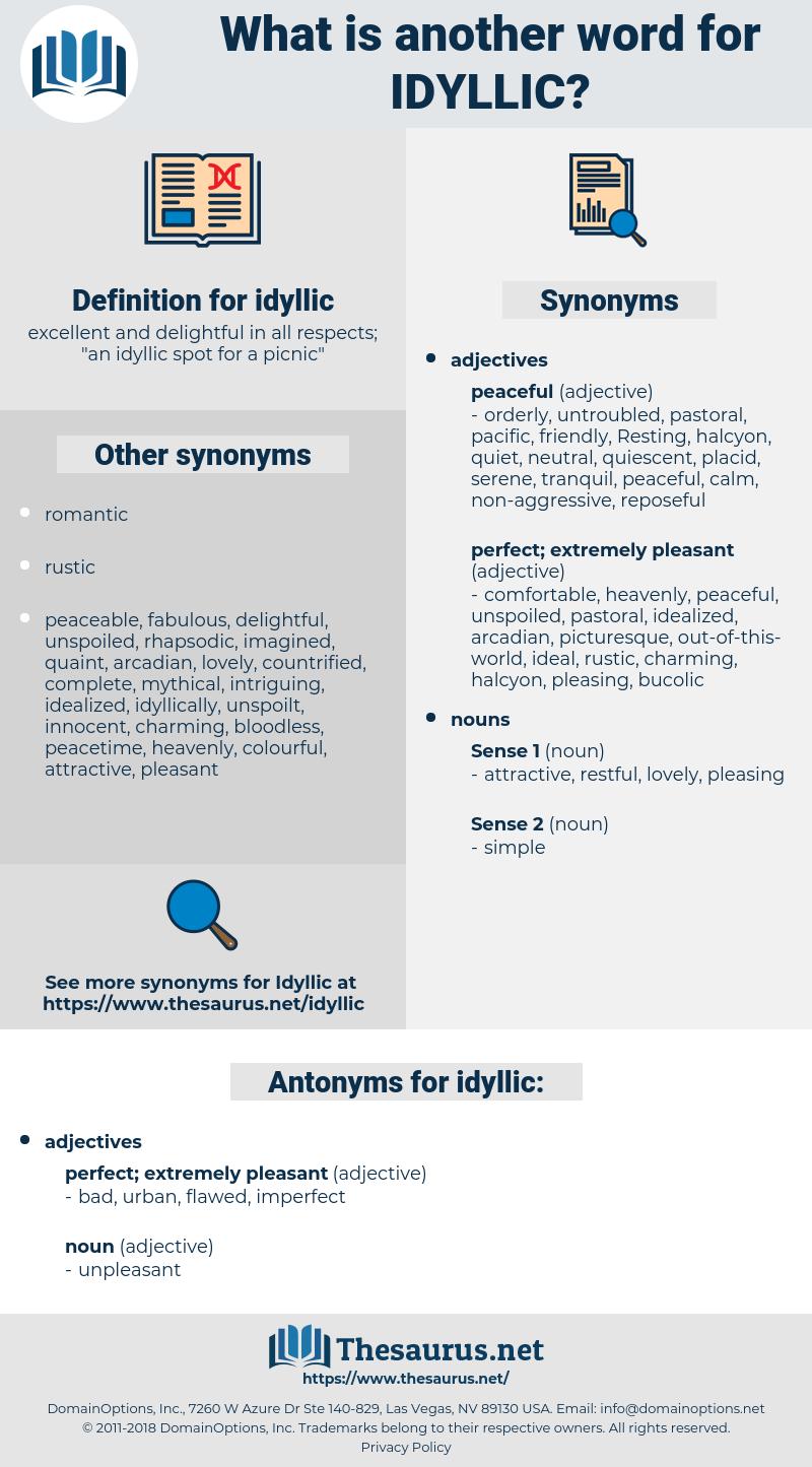 idyllic, synonym idyllic, another word for idyllic, words like idyllic, thesaurus idyllic