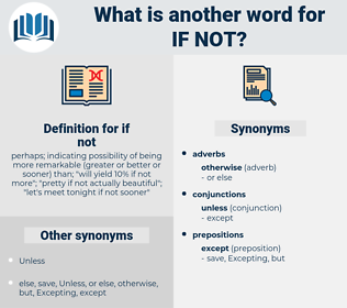 if not, synonym if not, another word for if not, words like if not, thesaurus if not