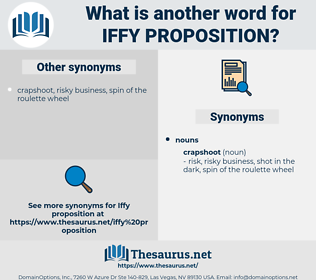 iffy proposition, synonym iffy proposition, another word for iffy proposition, words like iffy proposition, thesaurus iffy proposition