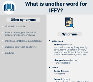 iffy, synonym iffy, another word for iffy, words like iffy, thesaurus iffy