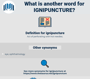 ignipuncture, synonym ignipuncture, another word for ignipuncture, words like ignipuncture, thesaurus ignipuncture