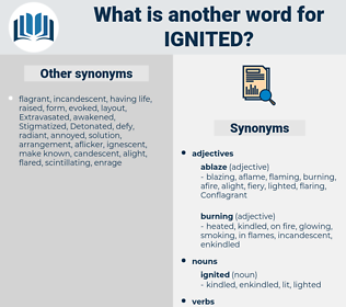 ignited, synonym ignited, another word for ignited, words like ignited, thesaurus ignited
