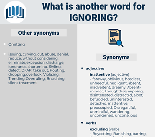 Ignoring, synonym Ignoring, another word for Ignoring, words like Ignoring, thesaurus Ignoring