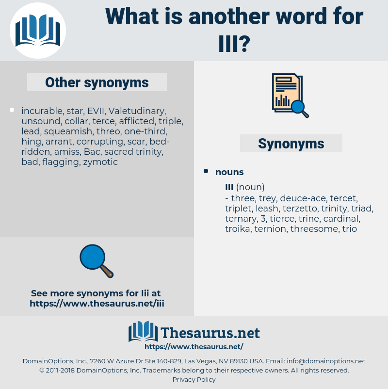 iii, synonym iii, another word for iii, words like iii, thesaurus iii