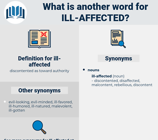 ill-affected, synonym ill-affected, another word for ill-affected, words like ill-affected, thesaurus ill-affected