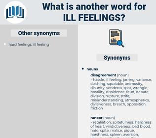 ill feelings, synonym ill feelings, another word for ill feelings, words like ill feelings, thesaurus ill feelings