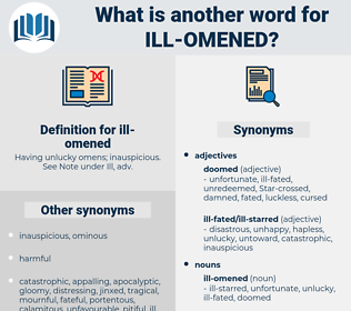 ill omened, synonym ill omened, another word for ill omened, words like ill omened, thesaurus ill omened