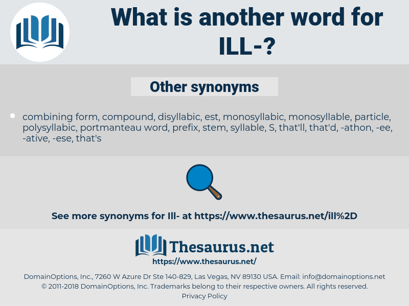 ill, synonym ill, another word for ill, words like ill, thesaurus ill