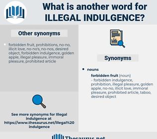 illegal indulgence, synonym illegal indulgence, another word for illegal indulgence, words like illegal indulgence, thesaurus illegal indulgence
