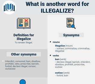 illegalize, synonym illegalize, another word for illegalize, words like illegalize, thesaurus illegalize