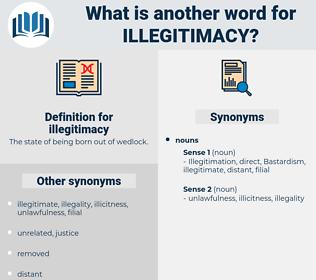 illegitimacy, synonym illegitimacy, another word for illegitimacy, words like illegitimacy, thesaurus illegitimacy