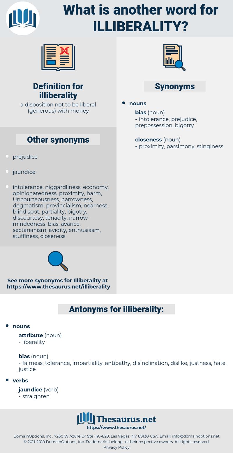 illiberality, synonym illiberality, another word for illiberality, words like illiberality, thesaurus illiberality