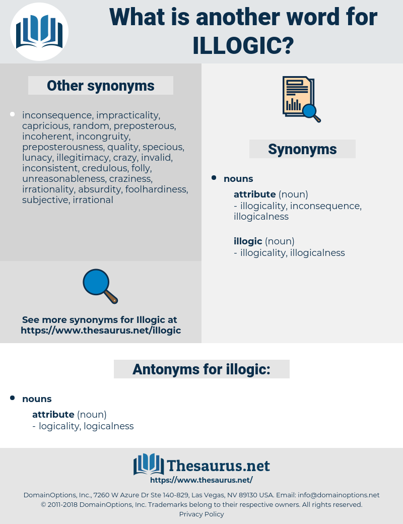 illogic, synonym illogic, another word for illogic, words like illogic, thesaurus illogic