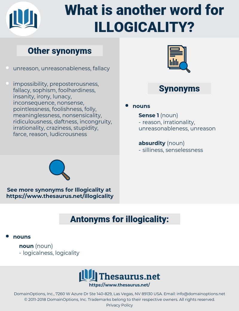 illogicality, synonym illogicality, another word for illogicality, words like illogicality, thesaurus illogicality