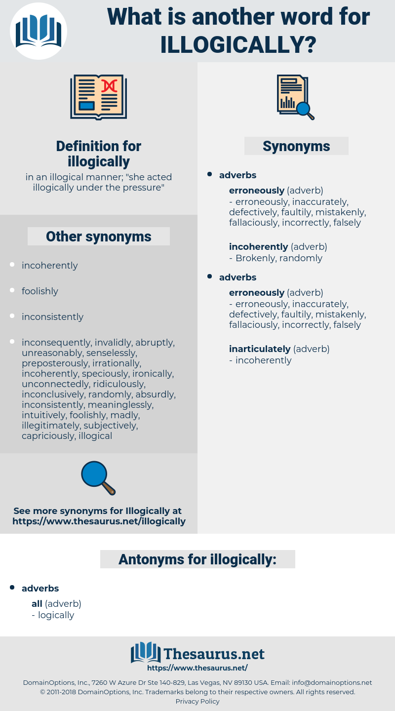 illogically, synonym illogically, another word for illogically, words like illogically, thesaurus illogically