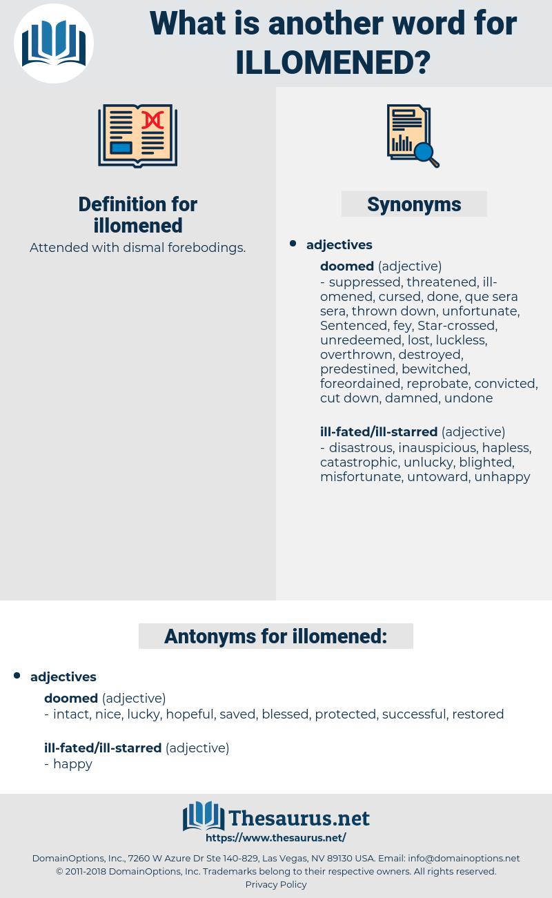 illomened, synonym illomened, another word for illomened, words like illomened, thesaurus illomened