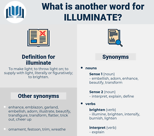 illuminate, synonym illuminate, another word for illuminate, words like illuminate, thesaurus illuminate