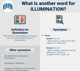 illumination, synonym illumination, another word for illumination, words like illumination, thesaurus illumination