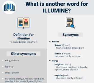 illumine, synonym illumine, another word for illumine, words like illumine, thesaurus illumine