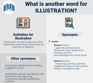 illustration, synonym illustration, another word for illustration, words like illustration, thesaurus illustration