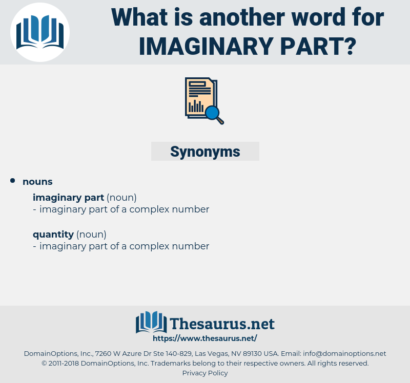 imaginary part, synonym imaginary part, another word for imaginary part, words like imaginary part, thesaurus imaginary part