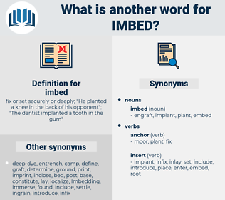 imbed, synonym imbed, another word for imbed, words like imbed, thesaurus imbed