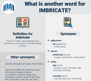 imbricate, synonym imbricate, another word for imbricate, words like imbricate, thesaurus imbricate