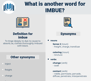 imbue, synonym imbue, another word for imbue, words like imbue, thesaurus imbue