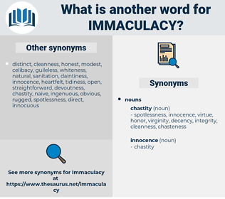 immaculacy, synonym immaculacy, another word for immaculacy, words like immaculacy, thesaurus immaculacy