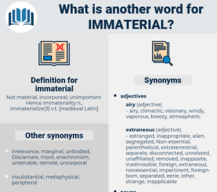immaterial, synonym immaterial, another word for immaterial, words like immaterial, thesaurus immaterial