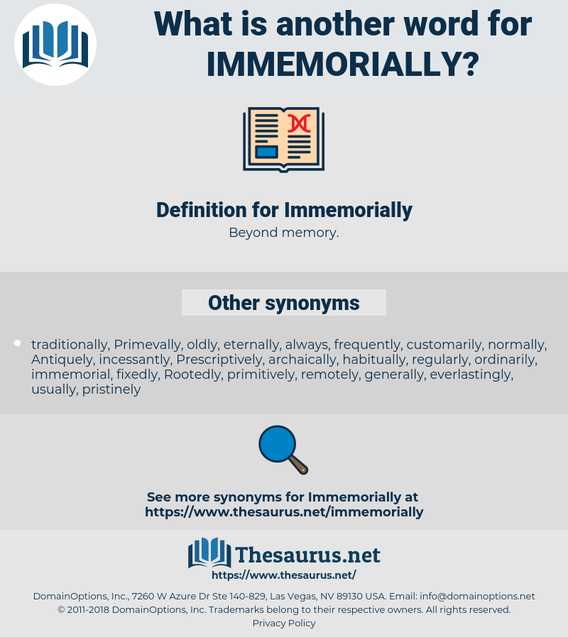 Immemorially, synonym Immemorially, another word for Immemorially, words like Immemorially, thesaurus Immemorially