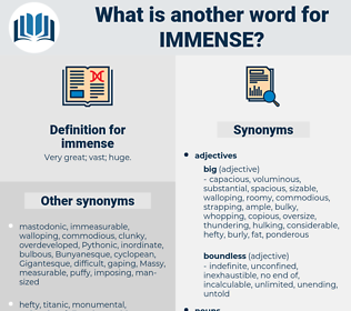 immense, synonym immense, another word for immense, words like immense, thesaurus immense