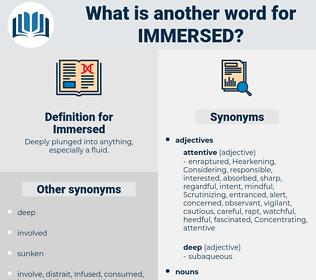 Immersed, synonym Immersed, another word for Immersed, words like Immersed, thesaurus Immersed