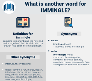 immingle, synonym immingle, another word for immingle, words like immingle, thesaurus immingle